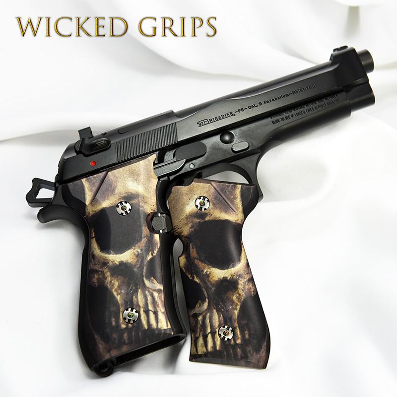 beretta-92fs-custom-grips-full-skull-face