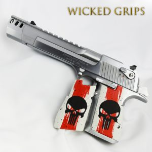 "DESERT EAGLE GRIPS ARTIST SERIES ""TRASH POLKA"" ONE OF A KIND"