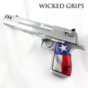 CUSTOM DESERT EAGLE PISTOL GRIPS TEXAS FLAG V2