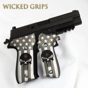 SIG SAUER P226 CUSTOM PISTOL GRIPS AMERICAN PUNISHER