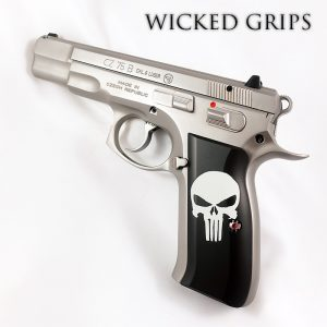 CZ 75 GRIPS ARTIST SERIES CERAKOTE CLASSIC PUNISHER