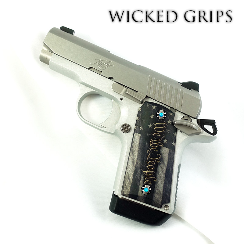 KIMBER MICRO 9MM CUSTOM PISTOL GRIPS WE THE PEOPLE VERSION 5