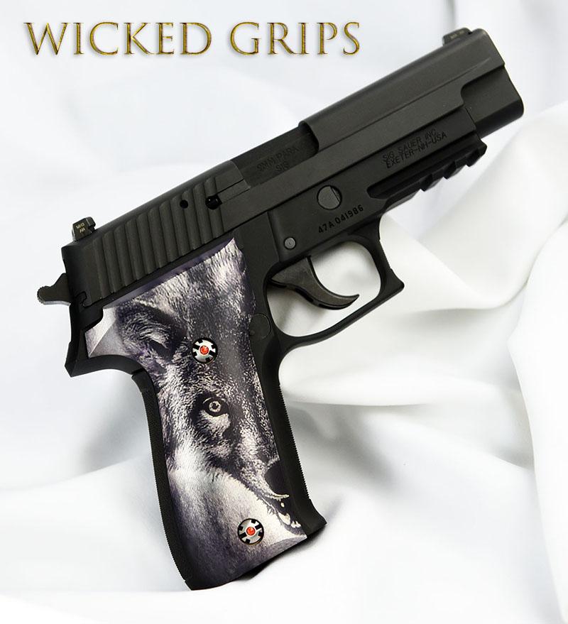 CUSTOM SIG SAUER P226 PISTOL GRIPS WOLF