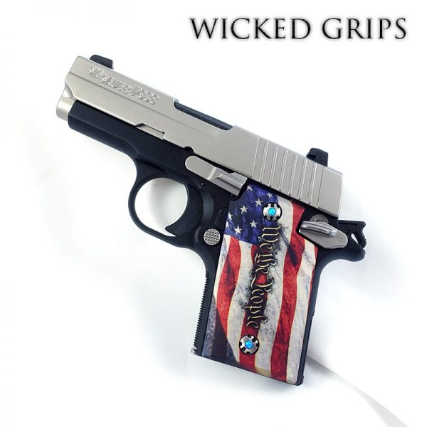 CUSTOM SIG SAUER P938 GRIPS WE THE PEOPLE V4