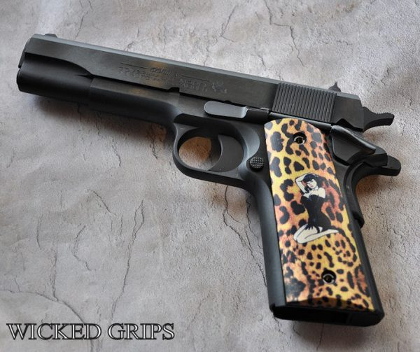 1911 ALUMINUM PIN UP ON CHEETAH GRIPS LIMITED SERIES.. LAST IN SERIES!