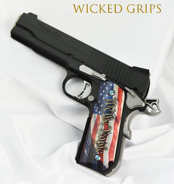 SIG SAUER 1911 FASTBACK PISTOL GRIPS WE THE PEOPLE 4
