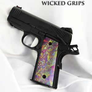 1911 Officers model compact THIN Art grips