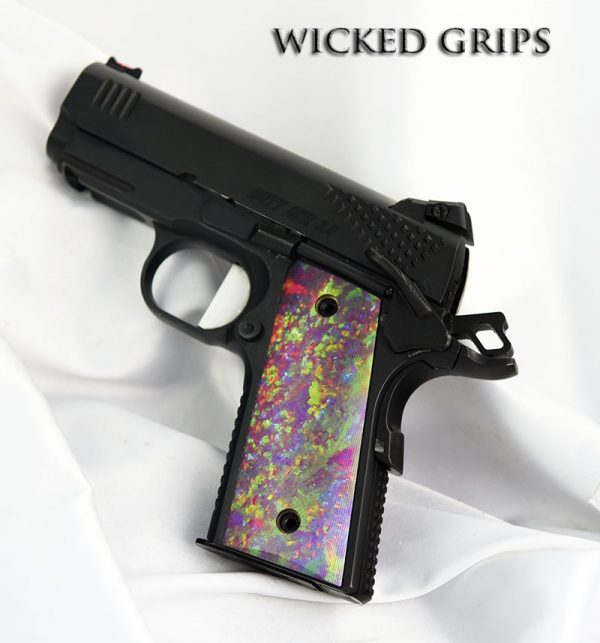 CUSTOM THIN 1911 OFFICERS COMPACT PISTOL GRIPS OPAL