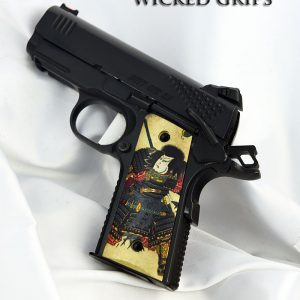 CUSTOM THIN 1911 OFFICERS COMPACT PISTOL GRIPS SAMURAI