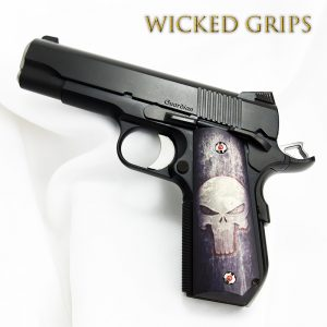 1911 Bobtail Art Grips - Wicked Grips | Custom Handgun