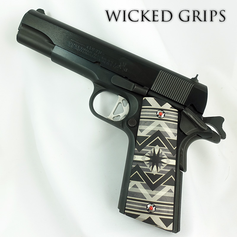 CUSTOM 1911 PISTOL GRIPS SOUTHWEST GREY SERIES