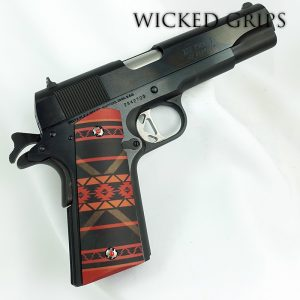 CUSTOM 1911 PISTOL GRIPS SOUTHWEST RED SERIES