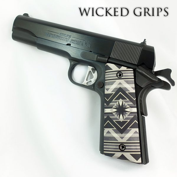 CUSTOM 1911 THIN PISTOL GRIPS SOUTHWEST GREY