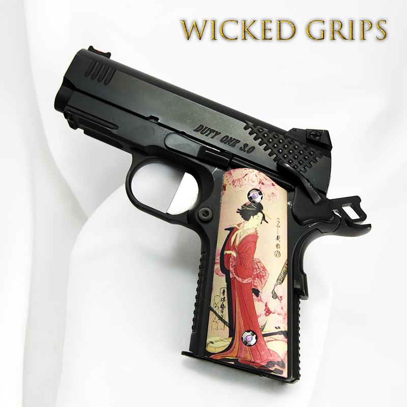 1911 COMPACT OFFICERS MODEL GRIPS GEISHA