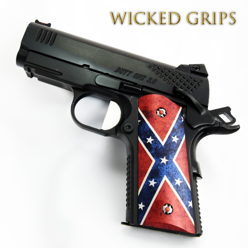 1911 COMPACT OFFICERS MODEL GRIPS DIXIE