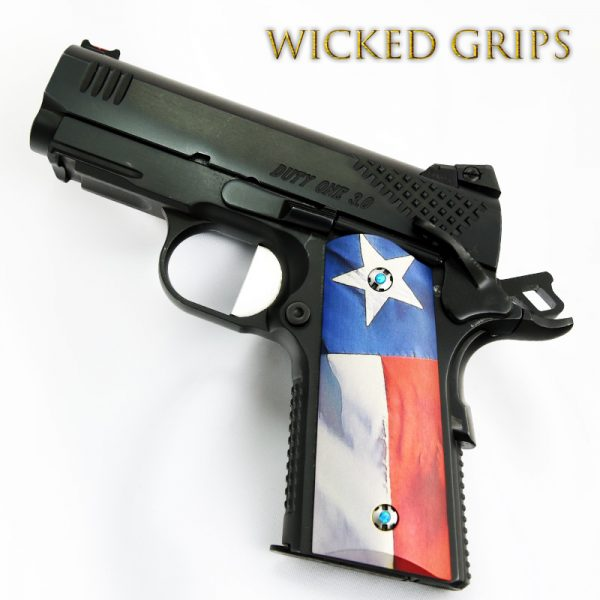1911 COMPACT OFFICERS MODEL TEXAS FLAG V2