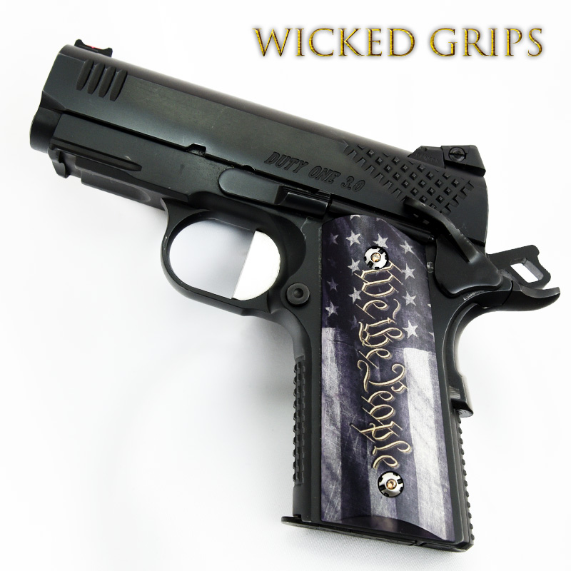 1911 COMPACT OFFICERS MODEL GRIPS WE THE PEOPLE V5