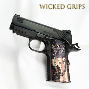 "CUSTOM 1911 OFFICERS GRIPS ""DONT TREAD ON ME FLAG"""