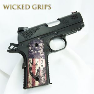 1911 OFFICERS THIN GRIPS! DONT TREAD ON ME FLAG