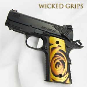 "1911 OFFICERS COMPACT THIN GRIPS ""YELLOW ROSE"""