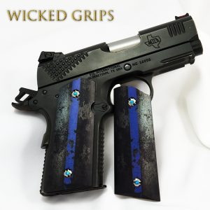 1911 OFFICERS COMPACT PISTOL GRIPS THIN BLUE LINE