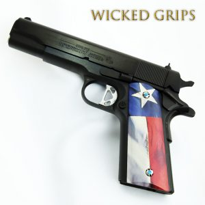 CUSTOM 1911 PISTOL GRIPS TEXAS FLAG V2