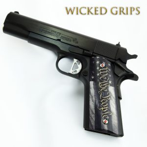 CUSTOM 1911 PISTOL GRIPS WE THE PEOPLE V5
