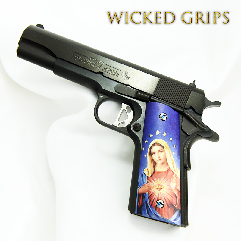 CUSTOM 1911 PISTOL GRIPS MARY V3