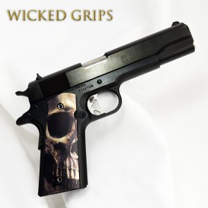 "CUSTOM 1911 THIN ""FULL SKULL FACE"""