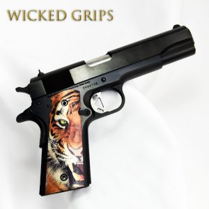 CUSTOM 1911 THIN PISTOL GRIPS TIGER