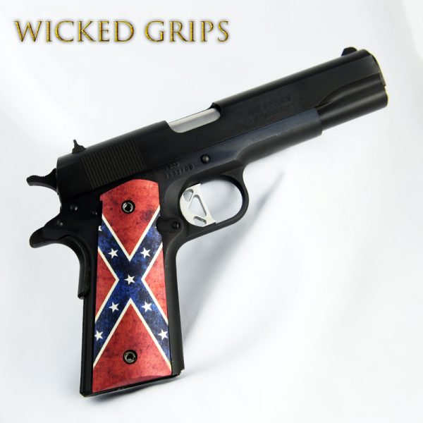 CUSTOM 1911 PISTOL GRIPS THIN DIXIE FLAG