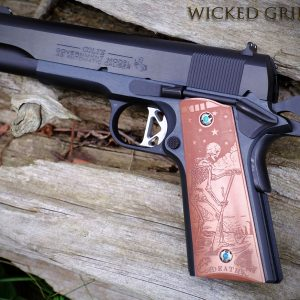 CUSTOM 1911 PISTOL GRIPS COPPER DEATH TAROT