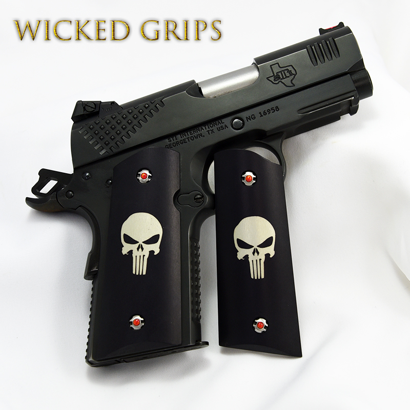 1911 COMPACT OFFICERS MODEL PISTOL GRIPS PUNISHER