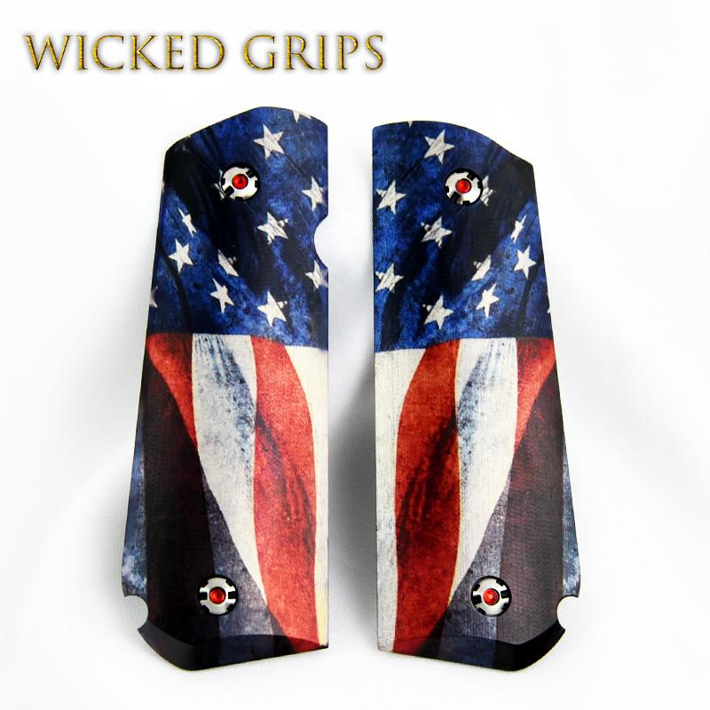 SIG SAUER 1911 FASTBACK PISTOL GRIPS AMERICAN FLAG V2
