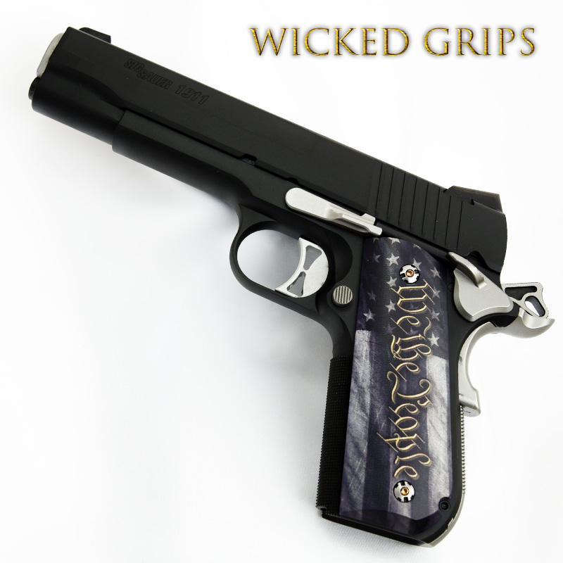 SIG SAUER 1911 FASTBACK PISTOL GRIPS WE THE PEOPLE V5