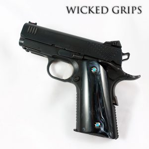 1911 OFFICERS MODEL COMPACT GRIPS REPLICATED BUFFALO