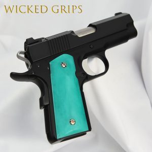 1911 OFFICERS MODEL COMPACT GRIPS REPLICATED JADE