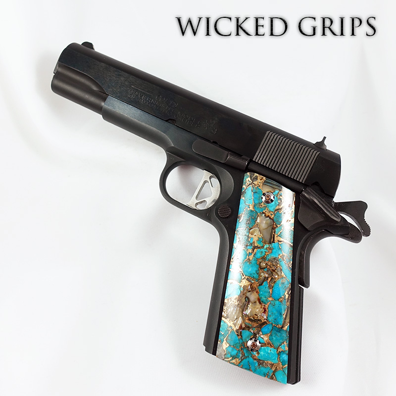 1911 GRIPS AMBI SAFETY TURQUOISE GEMSTONE SERIES