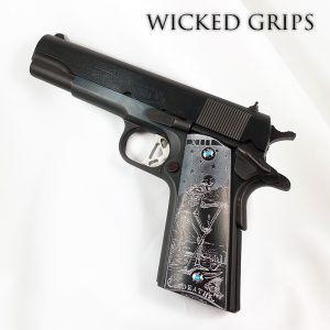1911 PISTOL GRIPS DEATH TAROT SYNTHETIC HORN