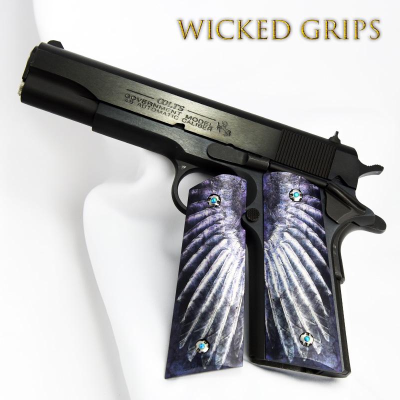 CUSTOM 1911 GUN GRIPS WING