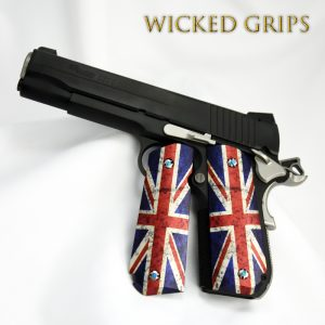 SIG SAUER 1911 FASTBACK PISTOL GRIPS BRITISH FLAG ONE OFF