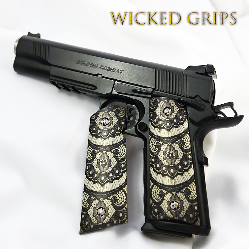 custom-1911-grips-black-lace
