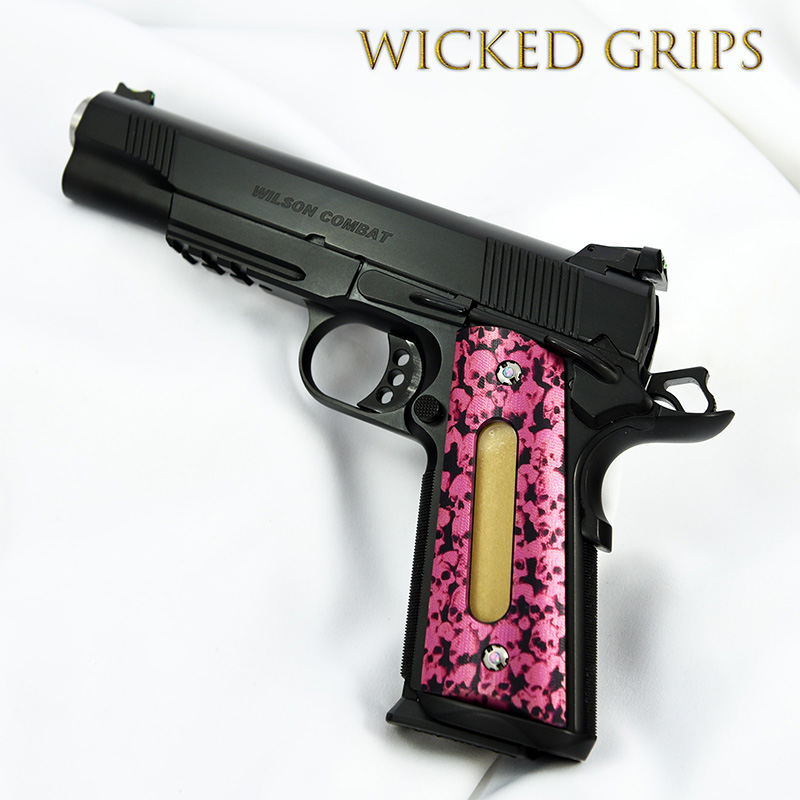 custom-1911-grips-double-windowed-pink-multi-skull