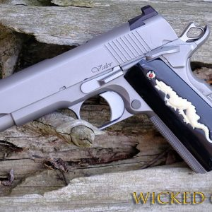 CUSTOM 1911 PISTOL GRIPS DRAGON ANNIVERSARY SERIES IVORY AND BUFF