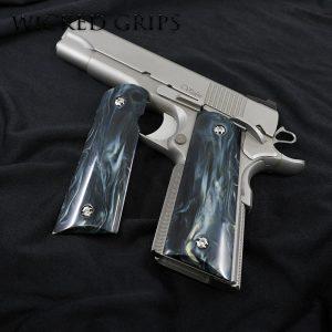 1911 GUN GRIPS CUSTOM REPLICATED BUFFALO HORN