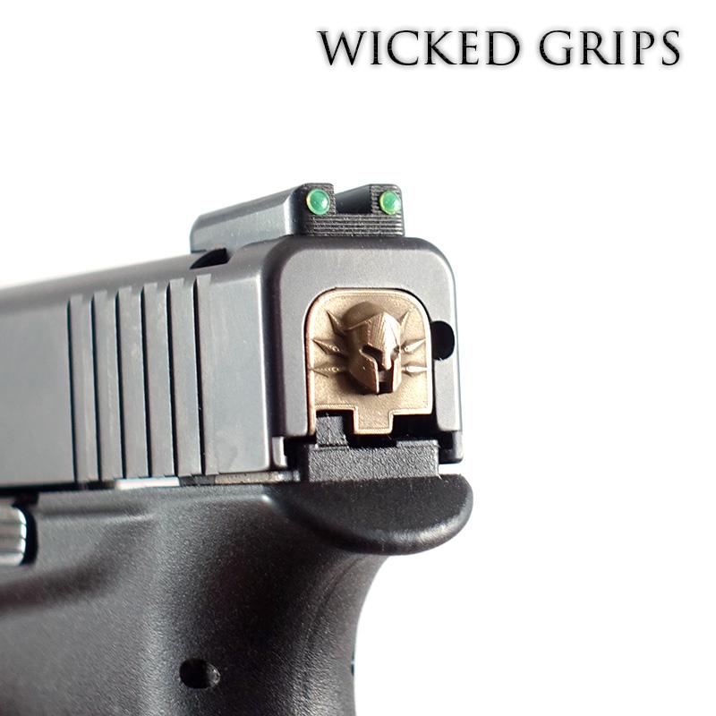 WICKED GRIPS REAR SLIDE PLATE FOR GLOCK 43, 43X, 48- SPARTAN