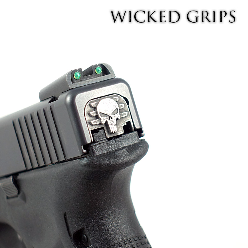 WICKED GRIPS REAR SLIDE PLATE FOR GLOCK GEN 1-4- PUNISHER