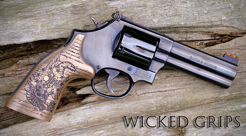S&W K L FRAME CUSTOM REVOLVER GUN GRIPS BRONZE EAGLE