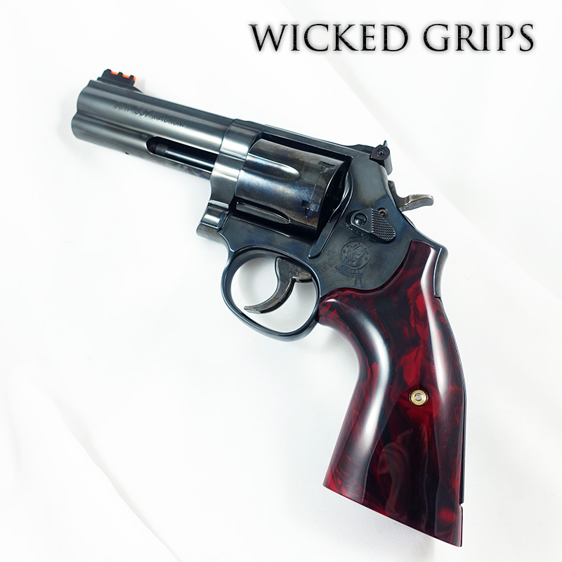 S&W K L AND X FRAME REVOLVER GRIPS REPLICATED RED JASPER