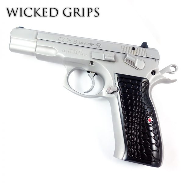 WICKED GRIPS CZ-75 GUN GRIPS HEX WAVE SERIES